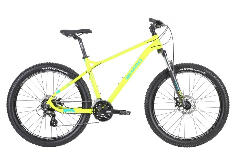 "MTB HARO FLIGHTLINE 26 PLUS DISC SIZE 16"", 3X8-SPEED, SG NEON YELLOW/TEAL, MY2018"